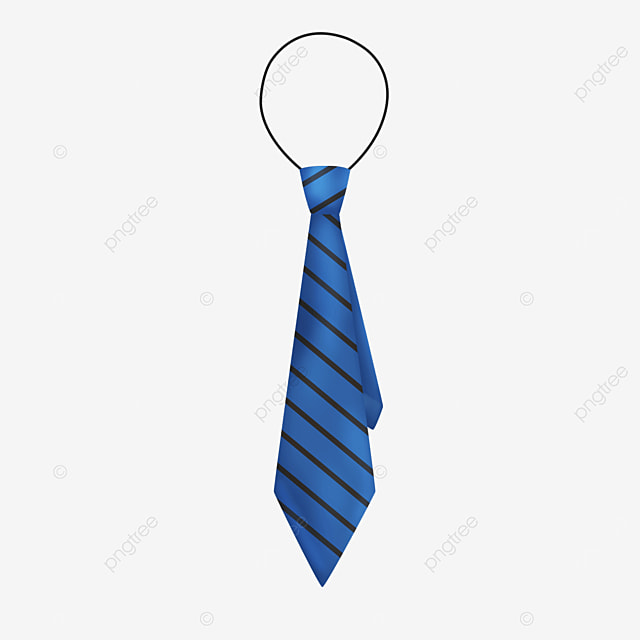 blue tie with black lines clipart