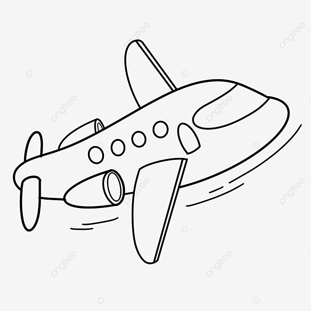 business airplane clipart black and white
