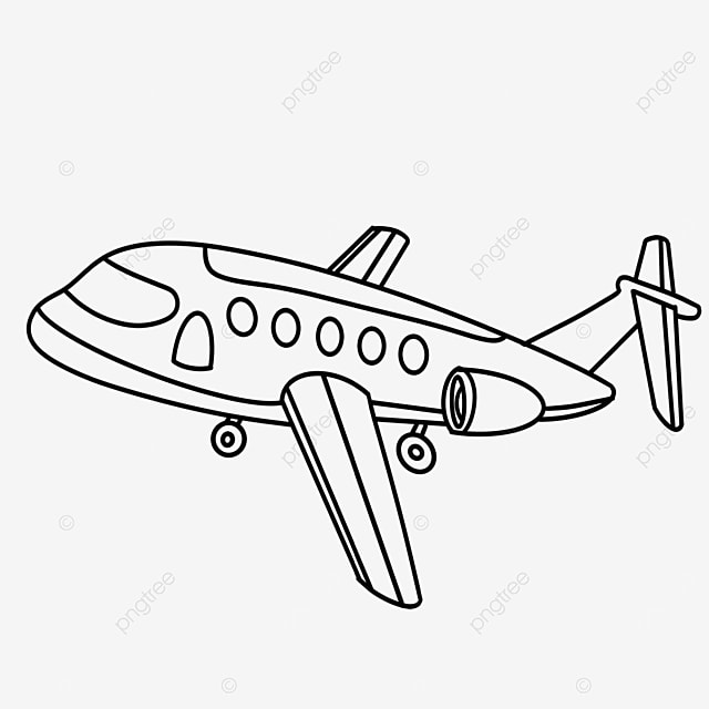 cargo airplane clipart black and white