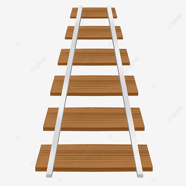 cartoon steel wood railway clipart