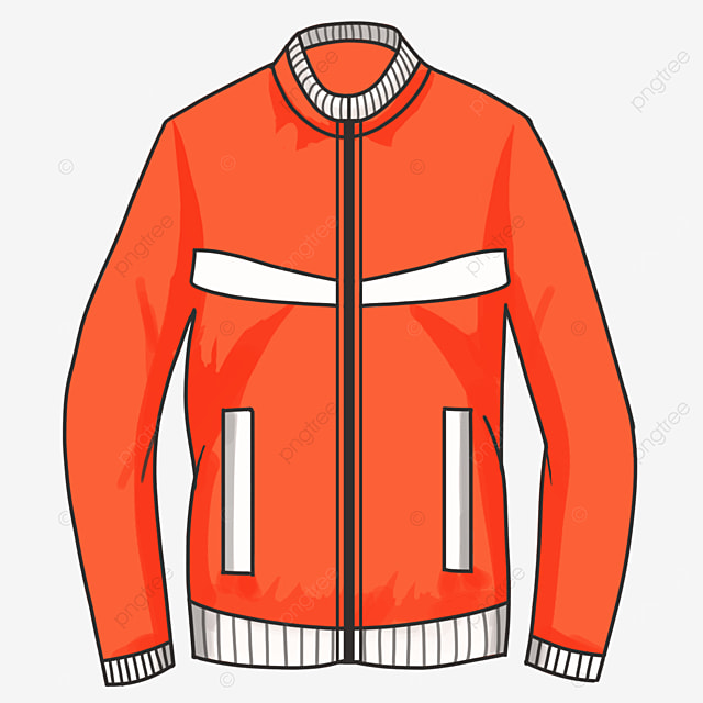 casual simple jacket clipart
