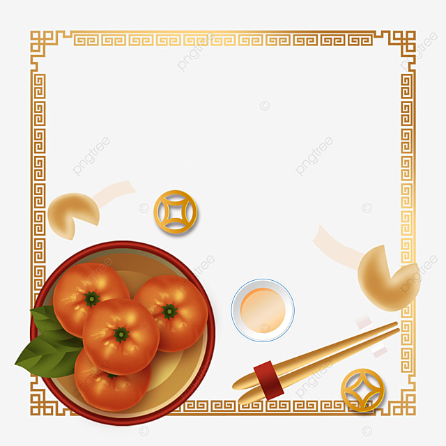 chinese new year spring festival pattern border