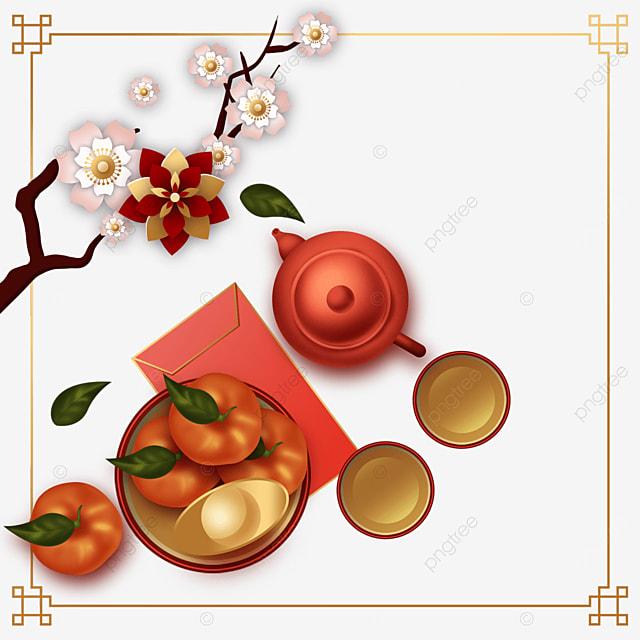 chinese new year spring festival plum blossom border