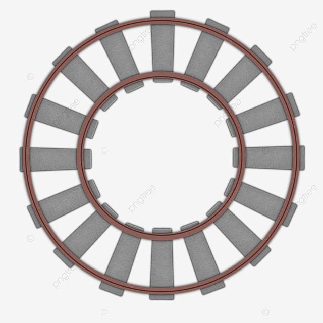 circular track gray railway clip art