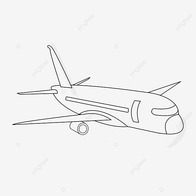 cool airplane clipart black and white