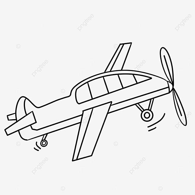 cute cartoon airplane clipart black and white