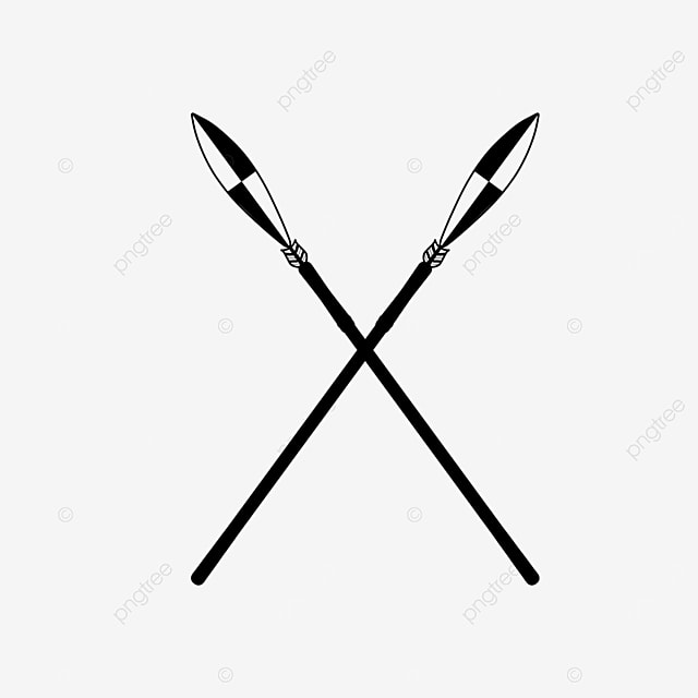 european rhombus crossed irregular black and white spears clipart