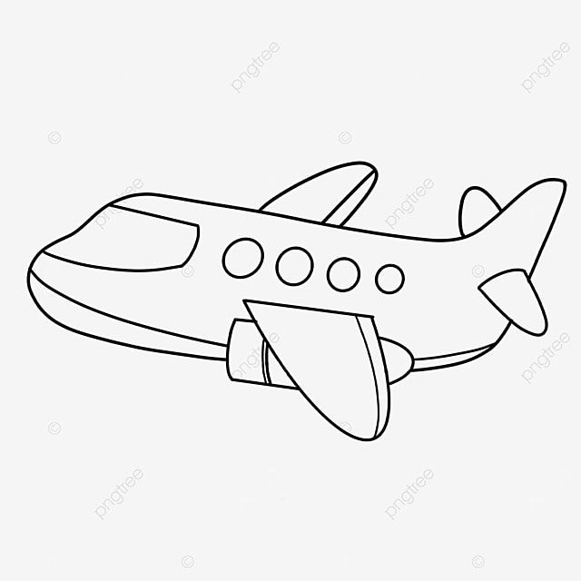 exclusive aircraft clipart black and white