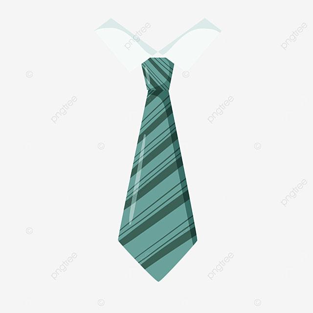 green striped mens tie clipart