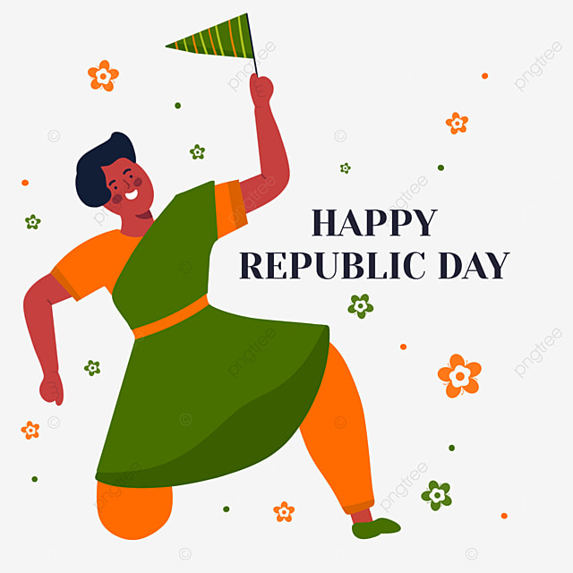 happy dance of indian republic day characters