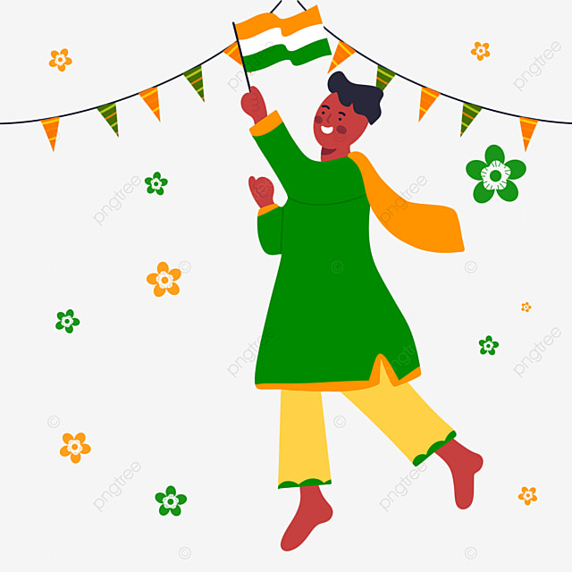 indian republic day colored flags