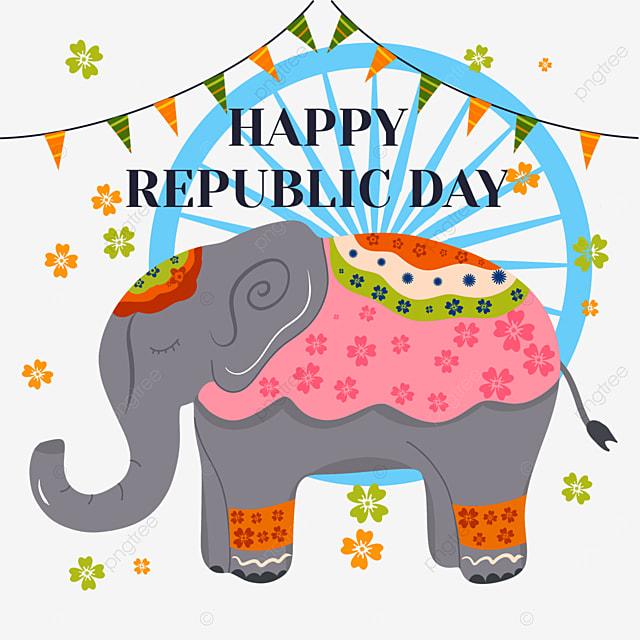 indian republic day elephant