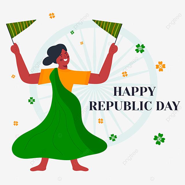 indian republic day green dress women