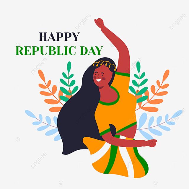 indian republic day women dancing joyfully