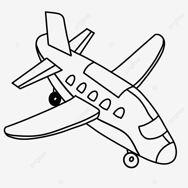 landing airplane clip art black and white