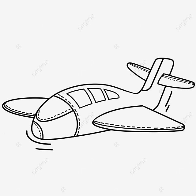 large aircraft clipart black and white
