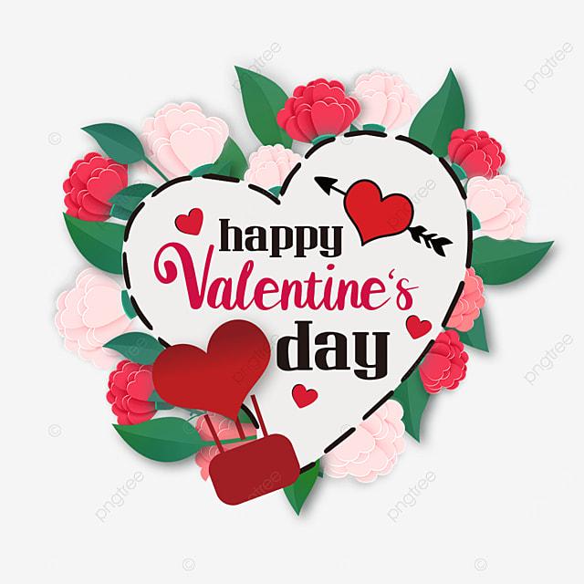 love border floral valentines day label