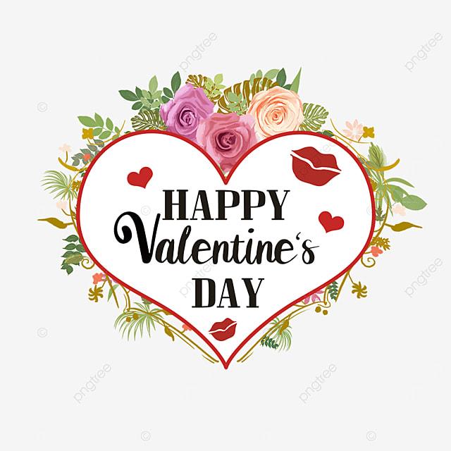 love border rose flower valentine label
