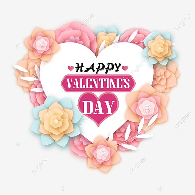 love three dimensional flower valentines day tags