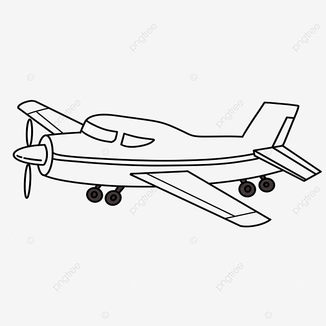 military aircraft clipart black and white