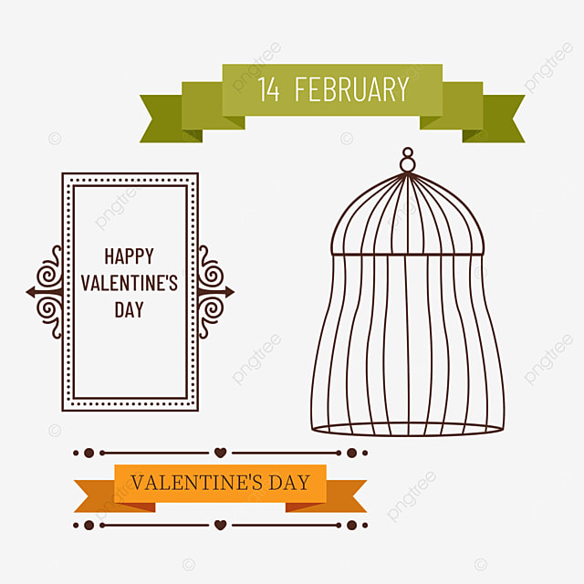 orange floral pattern valentines day retro decorative border