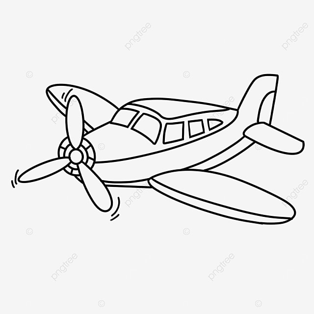 outdoor aviation airplane clipart black and white