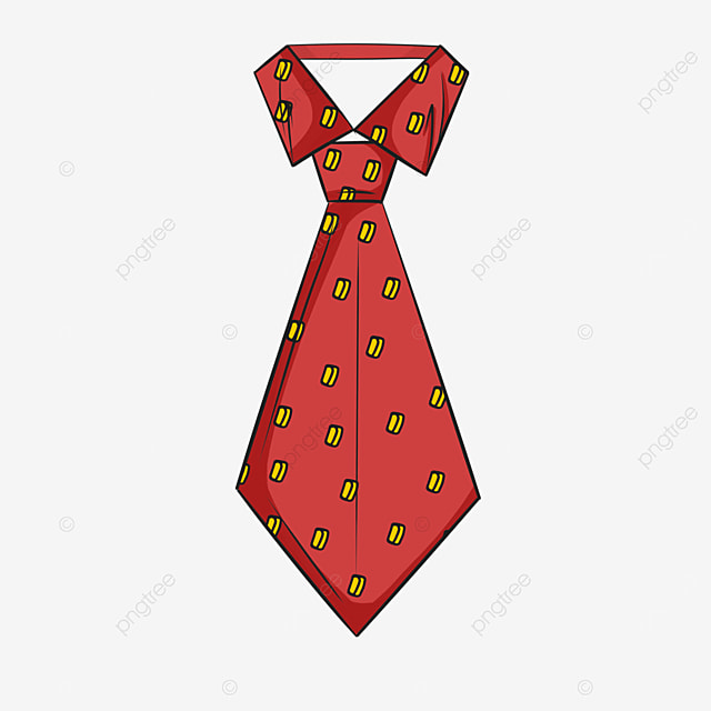 pattern red tie clipart