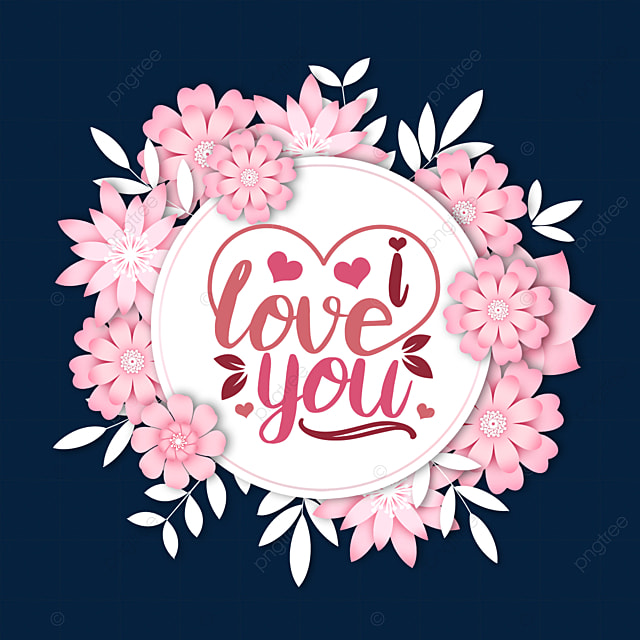 pink three dimensional flower valentines day tags