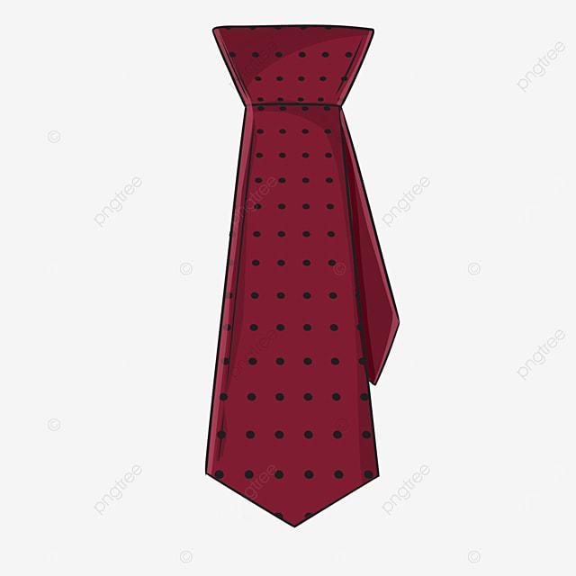 polka dot crimson business tie clipart