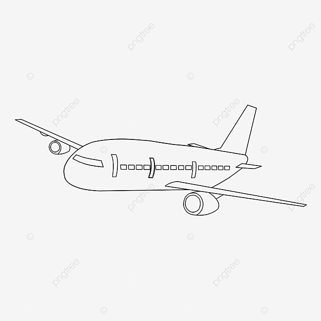 propeller airplane clipart black and white