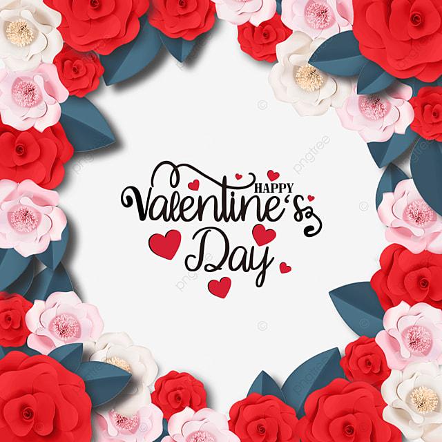 romantic valentines day rose promotion label