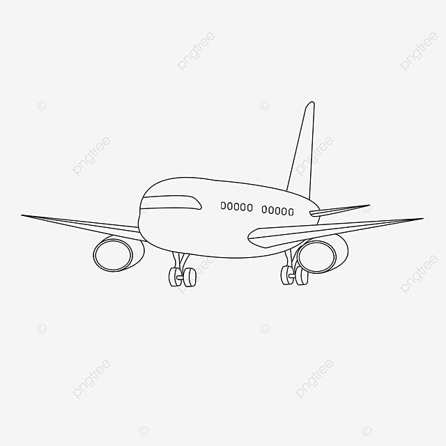 subsonic aircraft clipart black and white