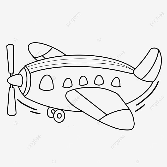 tech airplane clipart black and white