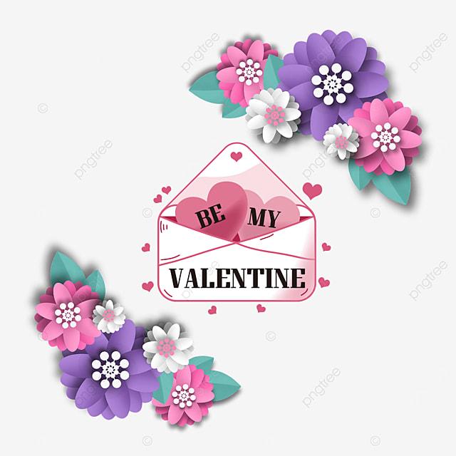 three dimensional floral valentines day envelope label