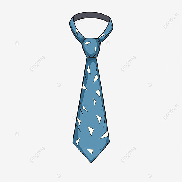 triangle blue casual mens tie clipart