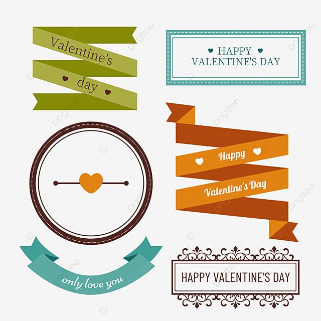 valentines day orange vintage decorative border
