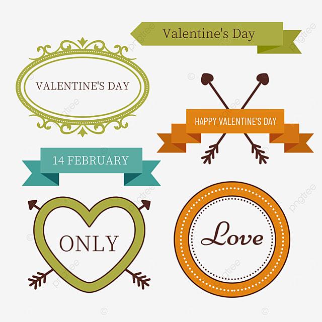 valentines day retro arrow decorative border