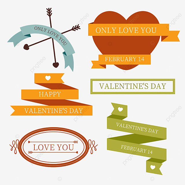 valentines day retro arrow line decorative border