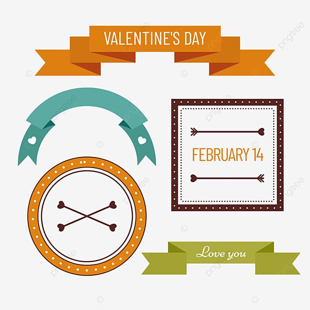 valentines day retro decorative banner border