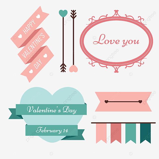 valentines day retro decorative green love border
