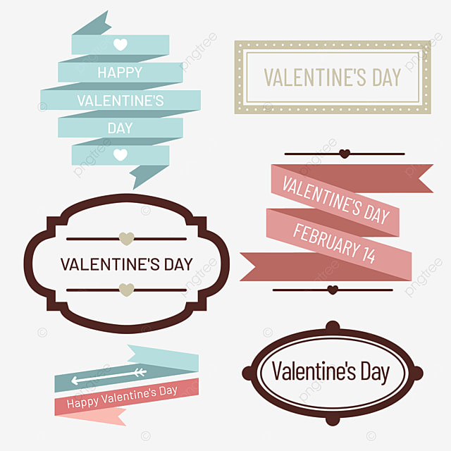 valentines day retro decorative line border