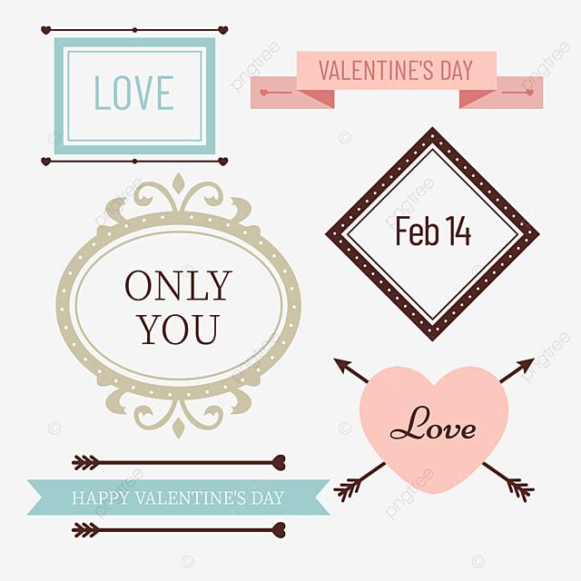 valentines day retro decorative love border