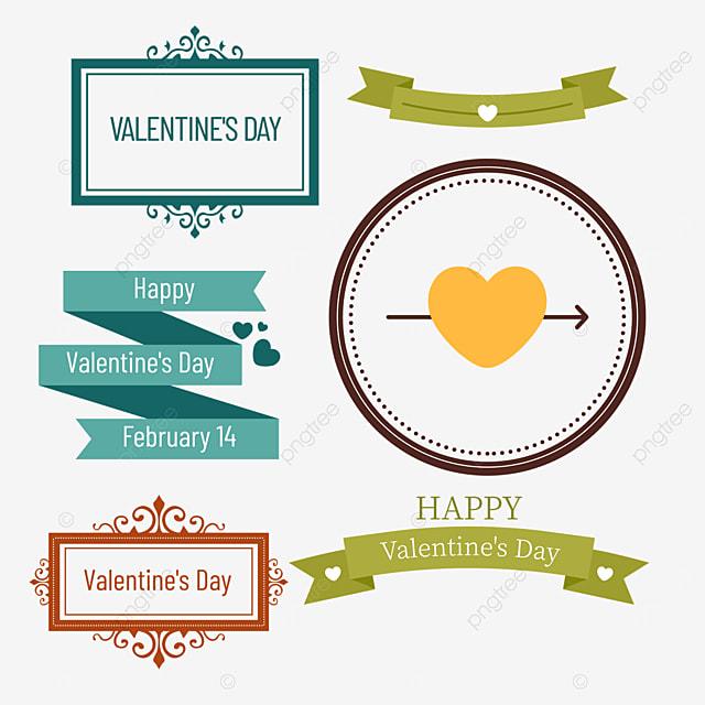 valentines day retro decorative round border