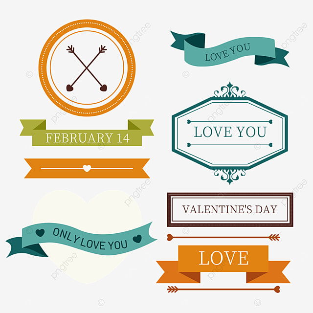 valentines day retro geometric decorative border