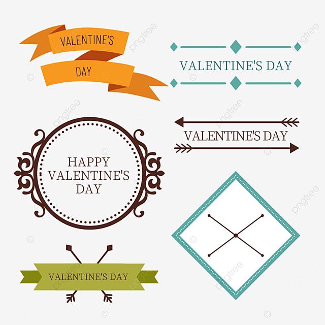 valentines day retro line pattern decorative border