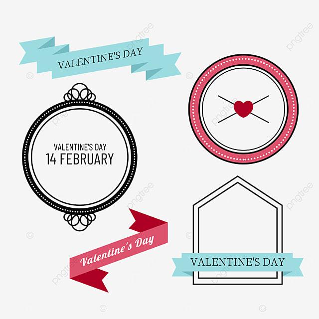 valentines day vintage decorative round frame border