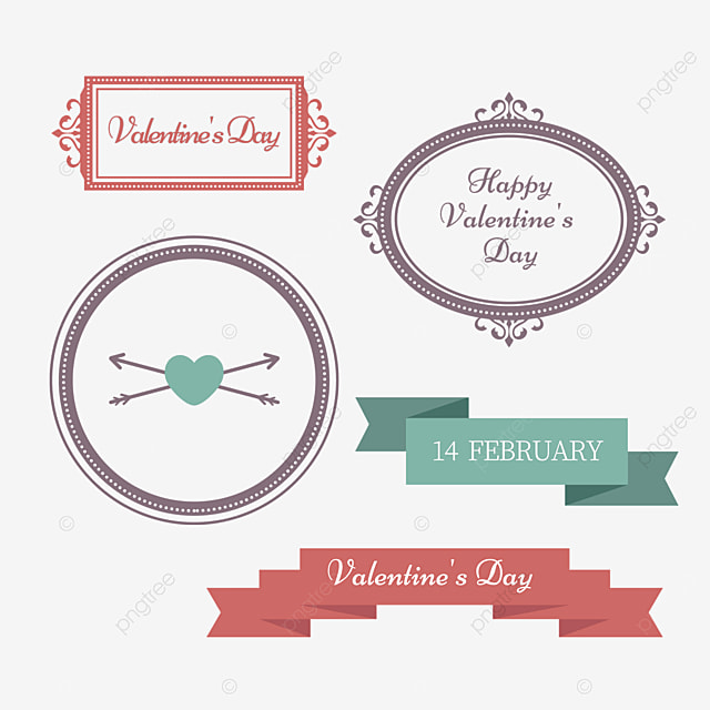 valentines day vintage green love decorative border