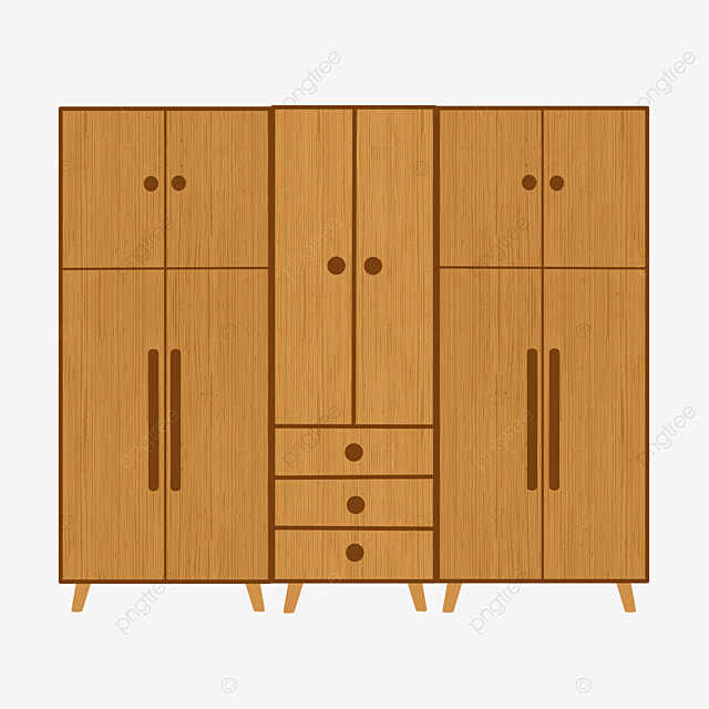 yellow wooden cabinet clipart