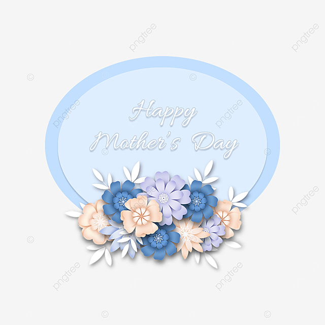 blue floral mothers day border