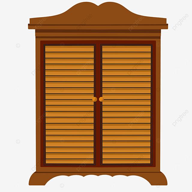 brown cartoon cabinet cupboard clipart